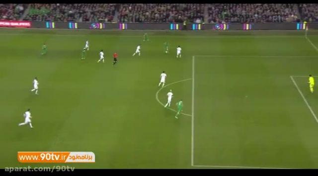 خلاصه بازی: ایرلند ۲-۰ بوسنی (مجموع ۳-۱)