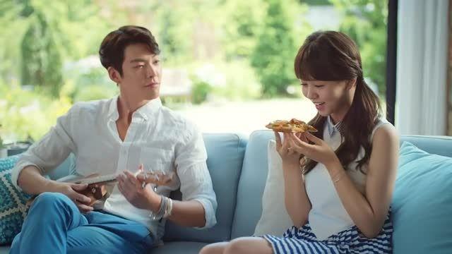 Kim Woobin  Kim Sohyun for Domino Pizza New TVCF