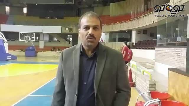 خبر نگاران در مراسم بدرقه تیم ملی بسکتبال