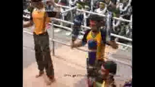 ورزش زورخانه ای بسیجیان کرمانشاه در حضور رهبر انقلاب