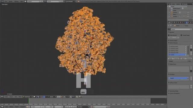 شبیه سازی ریختن برگ درخت
