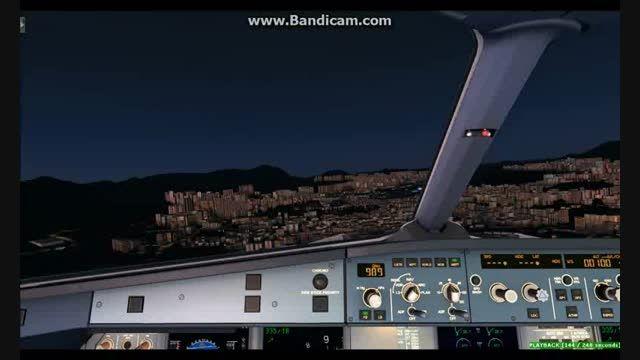 Mahan Air A320 landing at KAI TAK Ariport