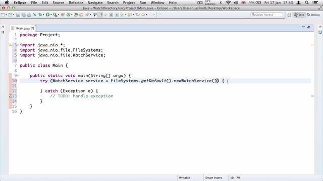 ۲۲- تغییر فایل برای دایرکتوری در جاوا Java