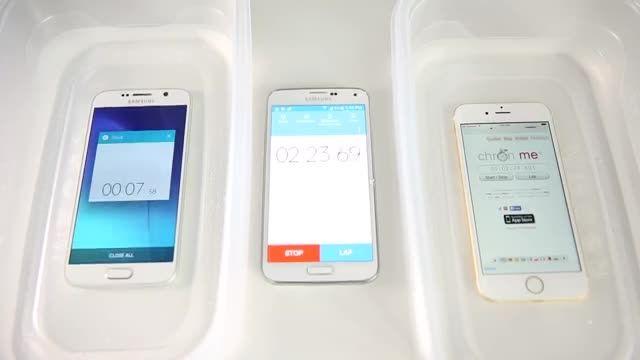 تست مقاومت ؛تست ضد آب   Samsung Galaxy S6 VS iPhone 6