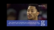 حرکات عجیب بازیکنان تیم بسکتبال نیوزلند!