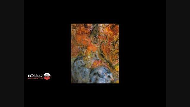 اثر استاد فرشچیان با نام موسیقی زندگی- مینیاتور دات کام