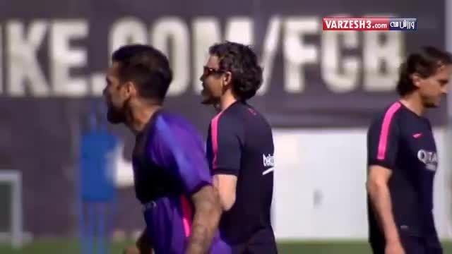 تمرین شاداب بارسلونا بعد پیروزی مقابل بایرن مونیخ