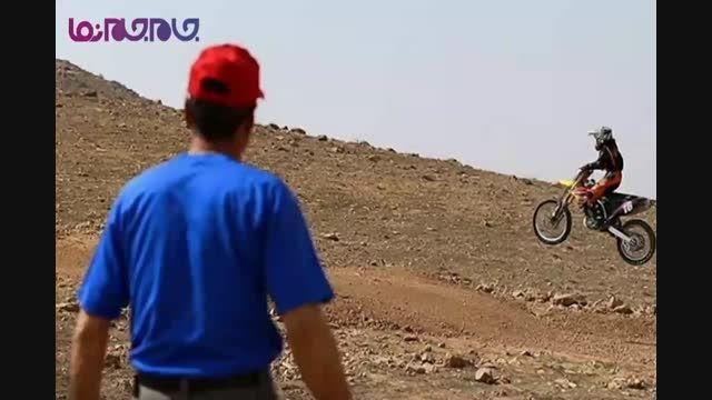 دختر موتور سوار رشته ریس و کراس ایرانی+فیلم ویدیو کلیپ