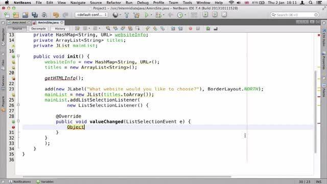 ۲۶- گرفتن داده ها از فایل HTML در جاوا Java