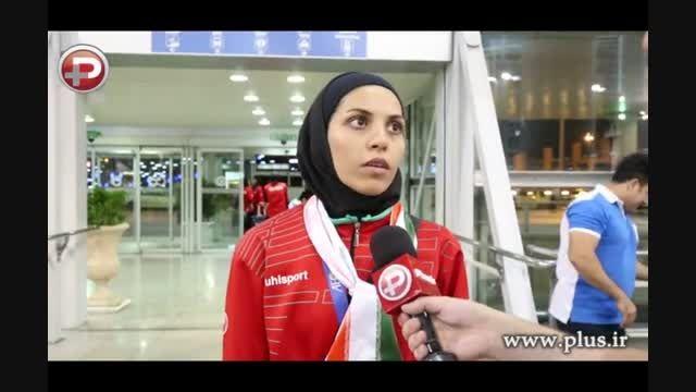 اشک های کاپیتان تیم ملی زنان ایران/گزارش بازگشت تیم ملی