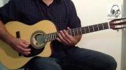نحوه اجرای سیم چهارم گیتار (سیم ر)