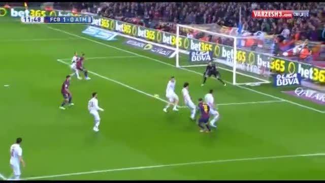 بارسلونا۳-۱ اتلتیکومادرید(خلاصه بازی)