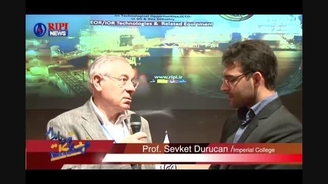 مصاحبه PROF. Durucan با واحد خبر پژوهشگاه