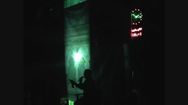 شب هشتم محرم94 روضه حضرت علی اصغر  حاج ابراهیم کاظمی