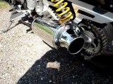 Yamaha XJR 1300 with Laser Pro Stock exhausts