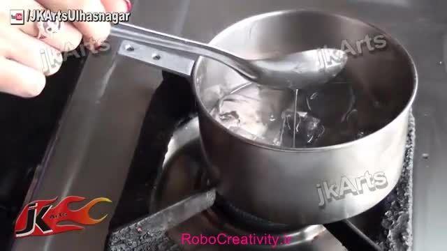آموزش ساخت شمع ژله ای RoboCreativity.ir