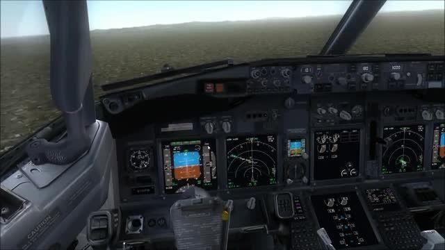 آموزش فرود با بویینگ 737 شرکت PMDG در شبیه ساز الماس