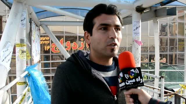 کلیپ صحبتها و رنج مردم شهر اندیشه در تردد از پل عابر پی