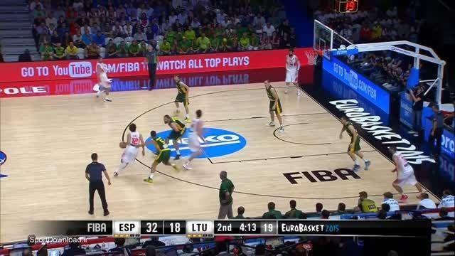 هایلایت بسکتبال فینال قهرمانی اروپا اسپانیا-لیتوانی