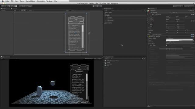 آموزش UI Tool در یونیتی 4 و 5-بخش 11-UI Scrollbar