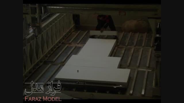 ماشین کاری مدل فومی دکور فروشگاه نایک