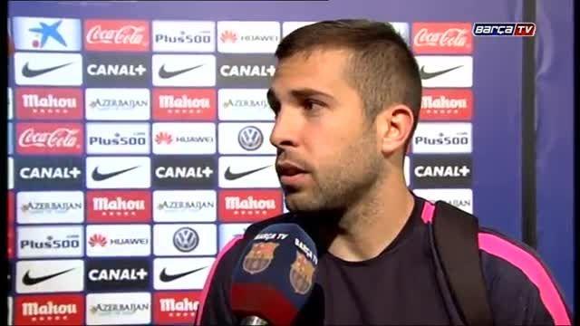مصاحبه بازیکنان بارسلونا پس از قهرمانی در لالیگا