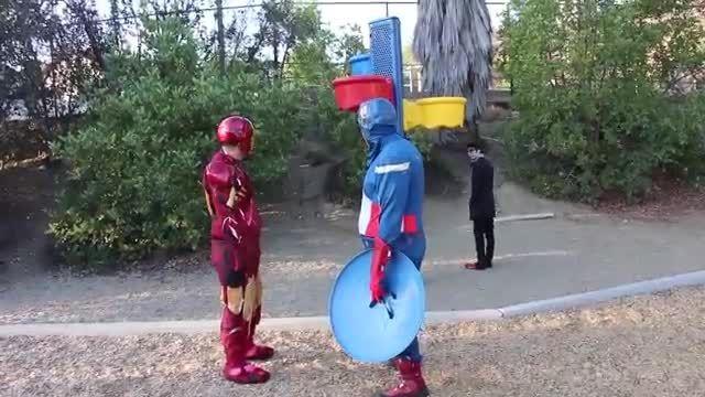 Iron Man vs Captain America vs Spiderman