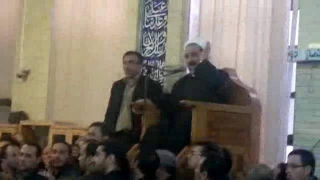 سخنرانی حجت الاسلام برگی در حضور دکتر احمدی نژاد