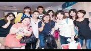 لی مین هو در میان طرفدارانش