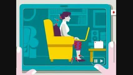 طرز نشستن صحیح هنگام استفاده از کامپیوتر