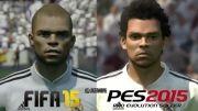 مقایسه چهره بازیکنان در fifa 15 و pes 2015
