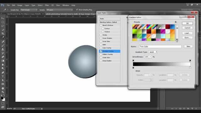 آموزش ساخت لوگو سه بعدی در فتوشاپ
