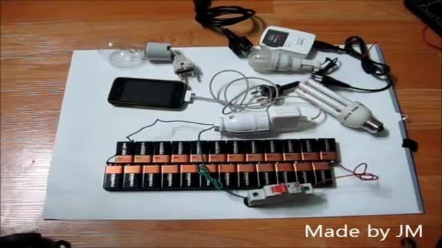درست کردن برق 220 شهری با باتری