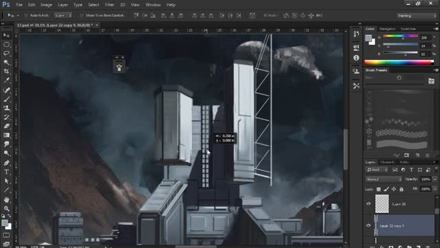 Creating a Sci-Fi Environment Concept in Photoshop