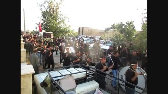 دسته. زنجیر زنی خوراوندی ها در امام زاده در محرم 94