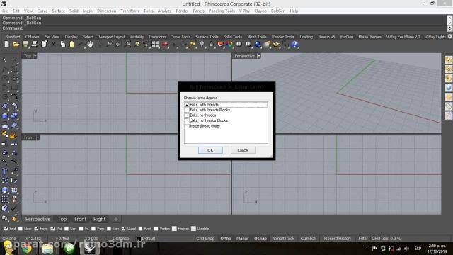 آموزش راینو - Rhino3dm.ir - BoltGen002
