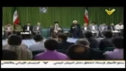 خواندن شعر به زبان عربی توسط مقام معظم رهبری
