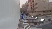 انجام حرکات پارکور توسط دختران نوجوان ایرانی