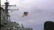 انفجار f-14 بعد از شکستن چند باره دیوار صوتی