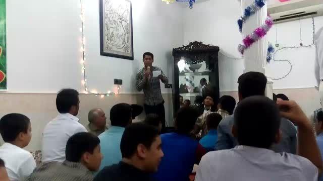 سرود زیبا آقای مهدی کریمی آذر غدیر 94 هیئت مشتاقان ظهور
