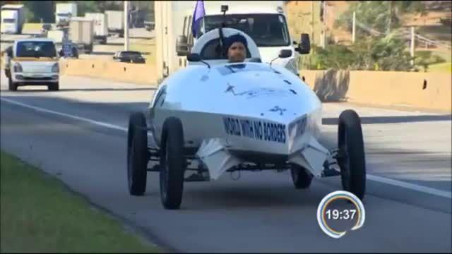 سفر یک ایرانی به دور دنیا با قایقچرخ  آبی و خاکی- برزیل