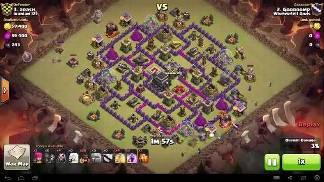 Clash of Clans - TH9 - GoHo - War 74 vs Iranian 121 - G