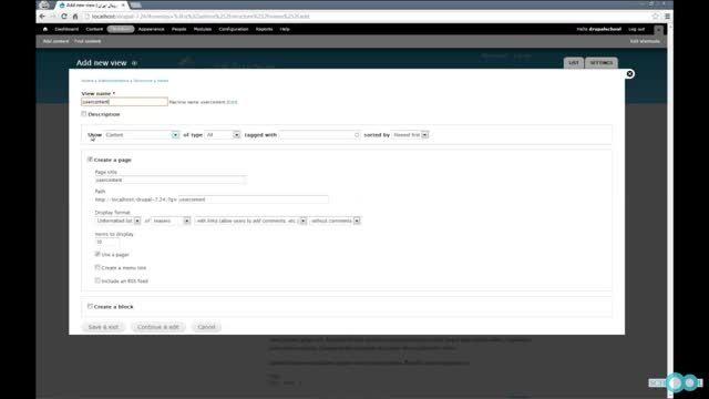 نمایش محتوای ایجاد شده هر کاربر در پروفایل کاربر