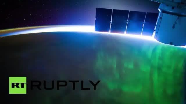 تایم لپس از شفق قطبی توسط  ایستگاه فضایی