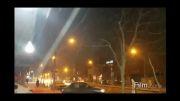 کلیپ دیدنی از بارش برف در مشهد/ تا آخر ببینید