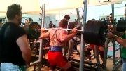 محمد ترابی 250 کیلو اسکات در وزن 85 کیلویی