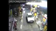 حریق در پمپ بنزین