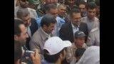 حضور رئیس جمهور در مناطق زلزله زده و سخنان احمدی نژاد به زبان آذری