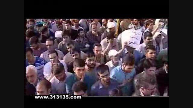 مداحی حاج محمود کریمی در مراسم تشییع پیکر شهدای غواص