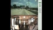 عاقبت حواس پرتی راننده اتوبوس !!